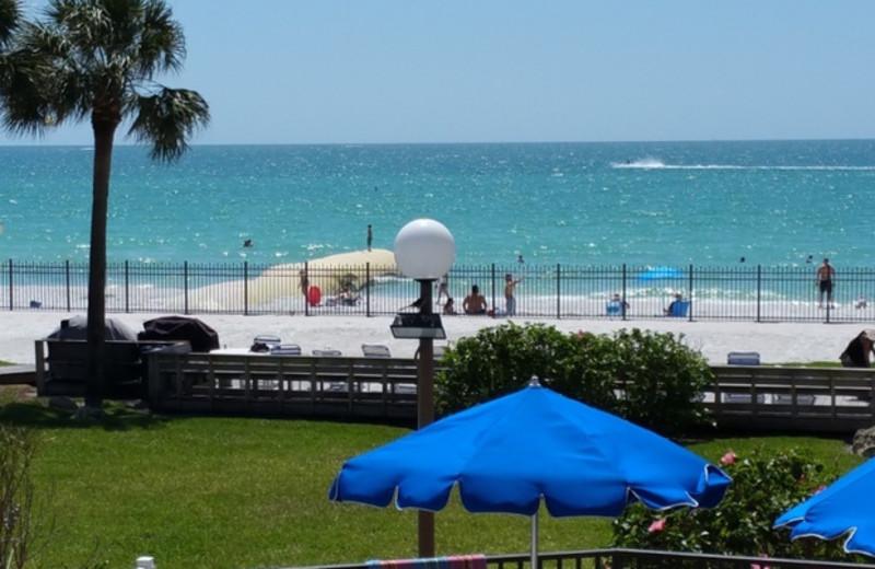 Beach at Caprice Resort.