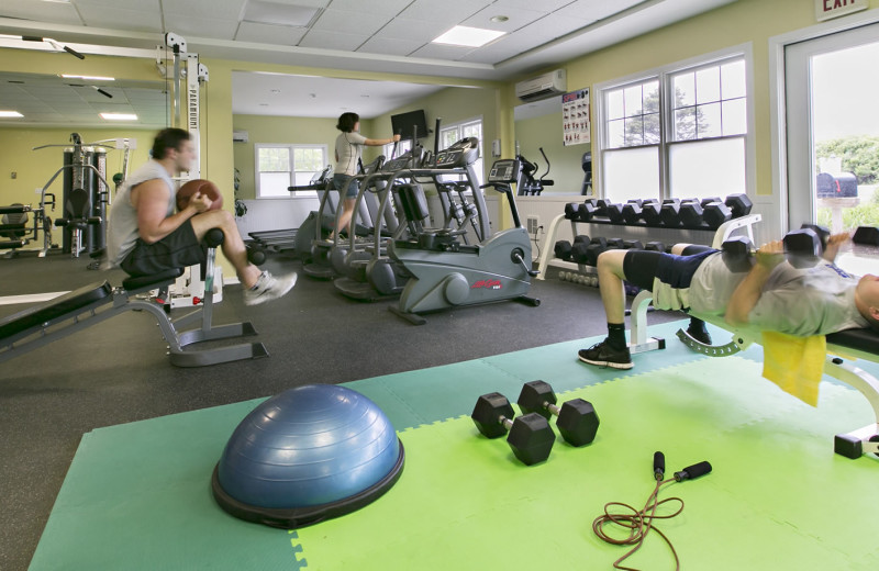 Fitness room at Winnetu Oceanside Resort.
