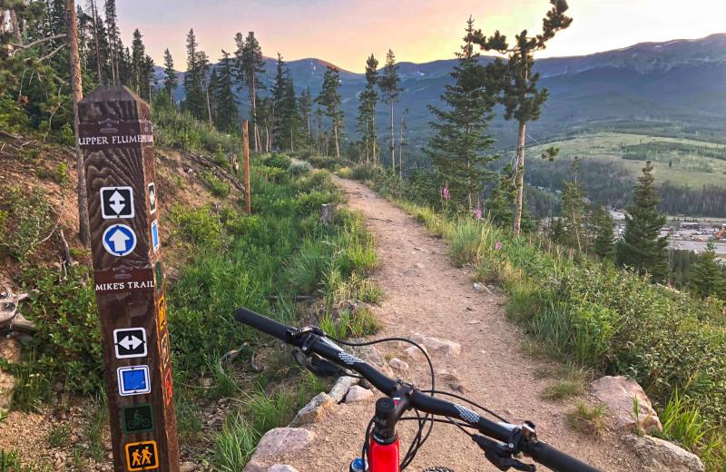 Biking at Grand Lodge on Peak 7.