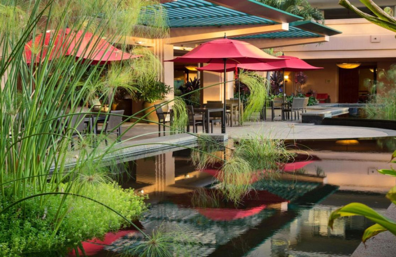 Patio at Honua Kai Resort & Spa.