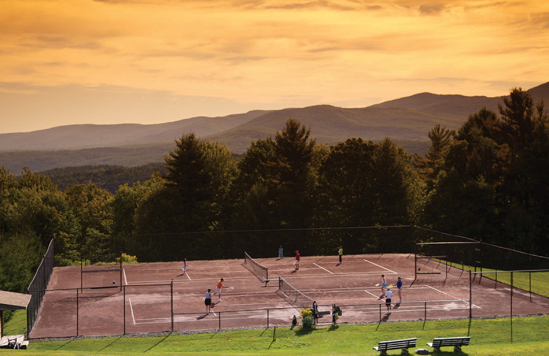 Tennis court at Trapp Family Lodge.