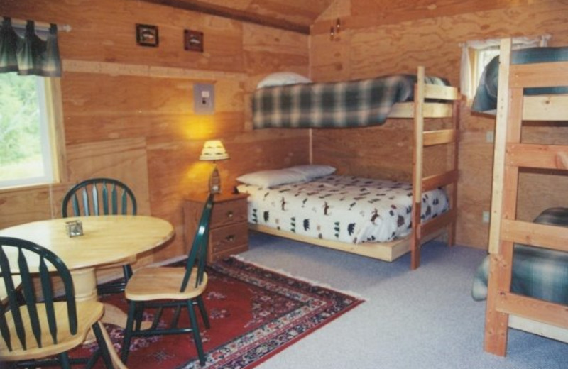 Bunk beds at Northwoods Lodge.