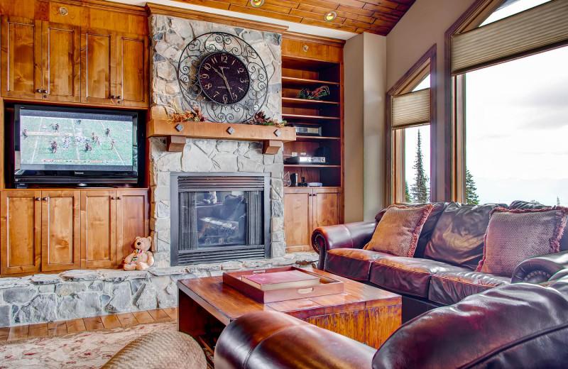 Living Room at RentChalets
