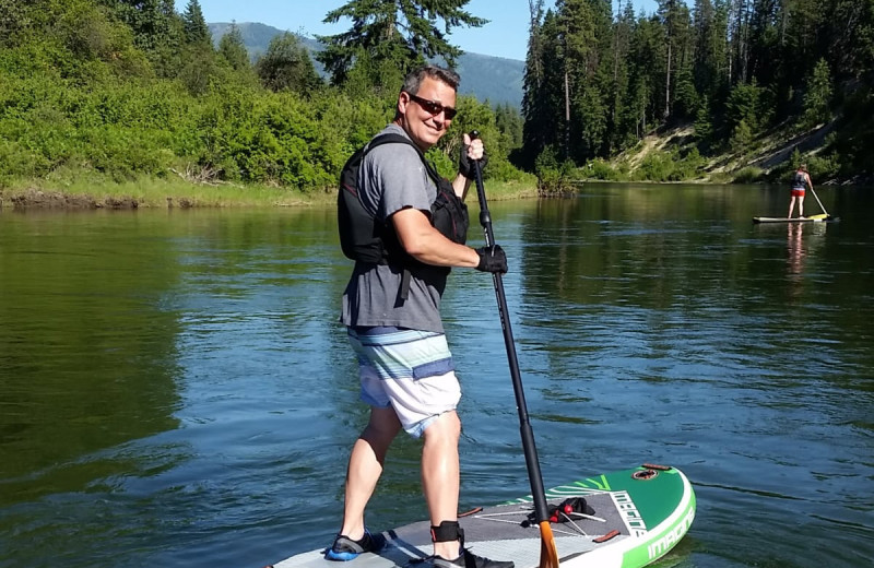 Paddle board at Natapoc Lodging.
