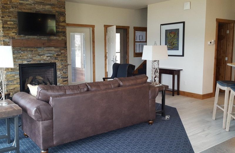 Beach House living room at Madden's on Gull Lake. Multi-bedroom reunion house.