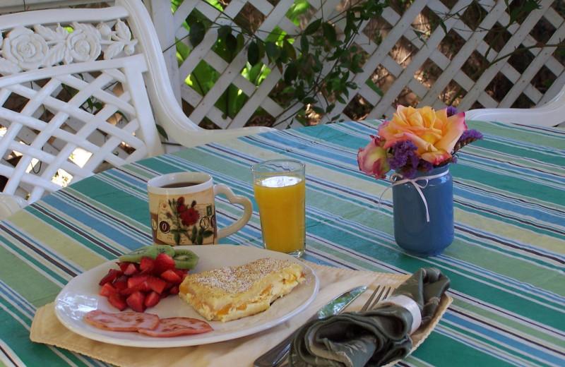 Breakfast at Pelican Cove Inn Bed & Breakfast.