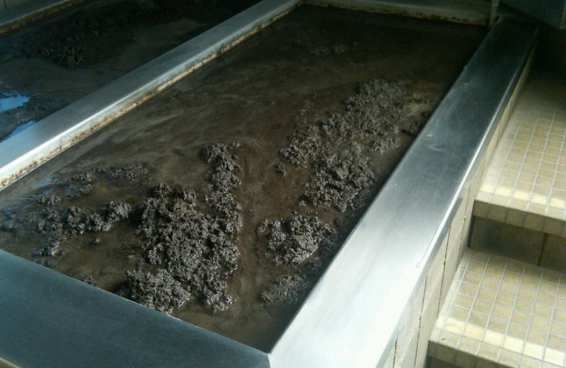 Mud treatment at Calistoga Spa.