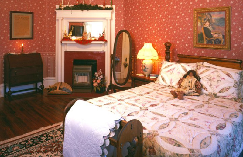 Guest room at The Pin Oak Bed & Breakfast.