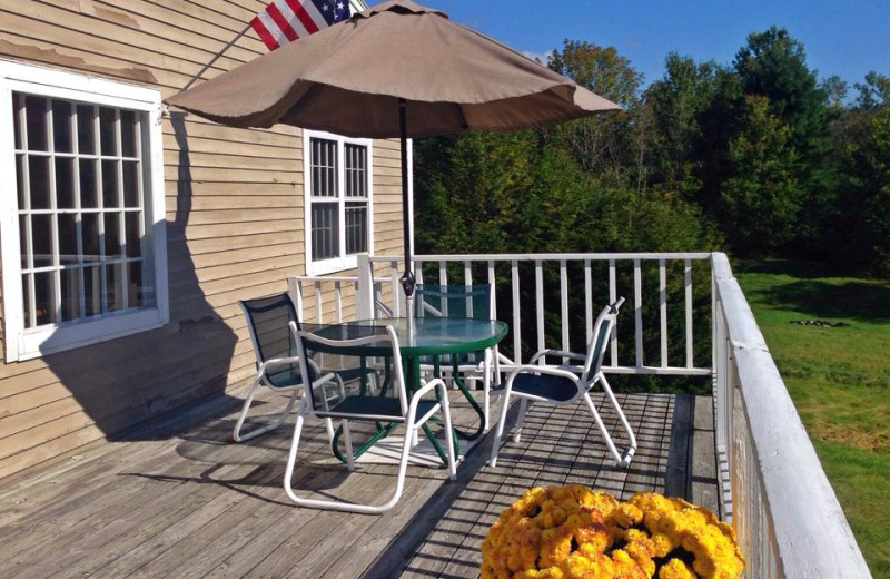 Deck view at The Inn at Willow Pond.