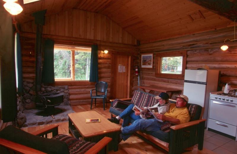 Cabin at Chaunigan Lake Lodge.