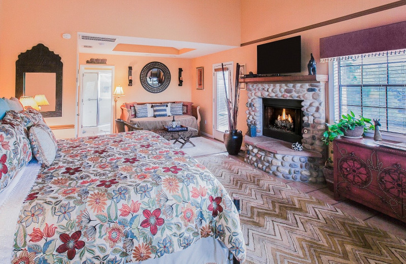Guest room at Blair House Inn.