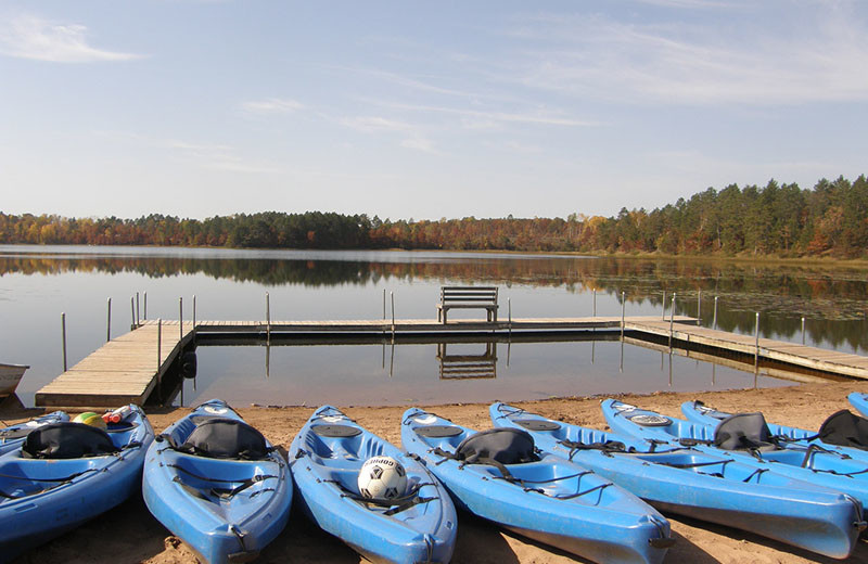 Canoes at Heartwood Conference Center & Retreat.