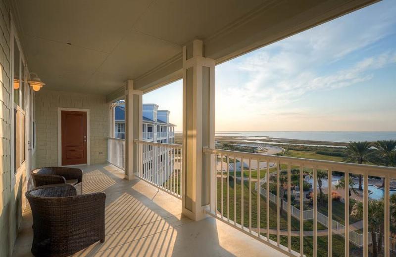 Rental deck view at Pointe West Properties.
