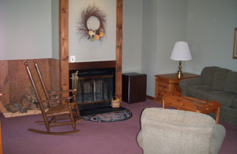 Guest room living room at The Inn at Willow Pond.