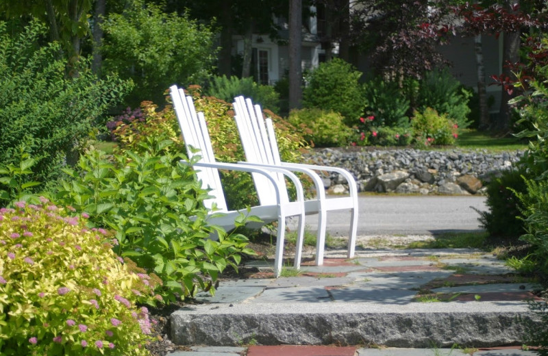 Chairs at Sheepscot Harbour Village & Resort.