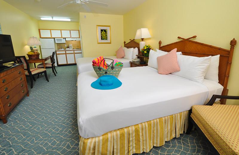 Guest room at Sunshine Suites Resort.