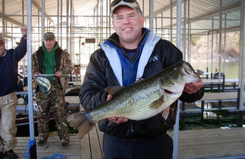 Fishing at Lunker Landing Resort.