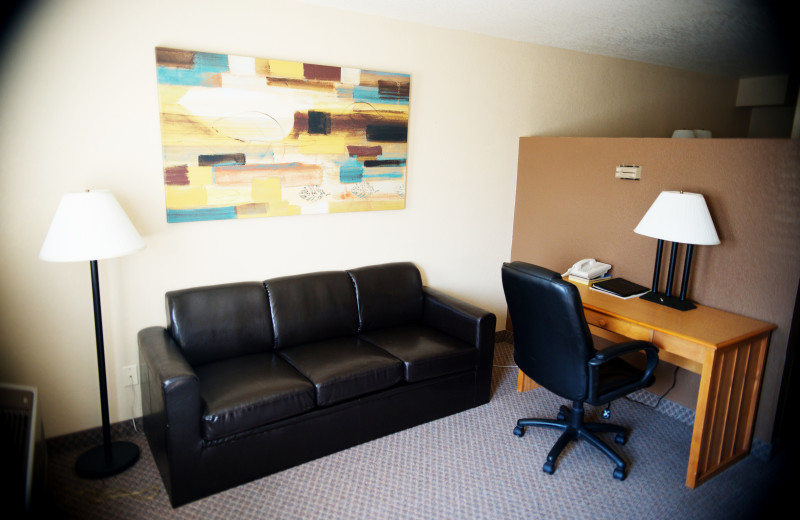 Lobby at Jorgenson's Inn & Suites.