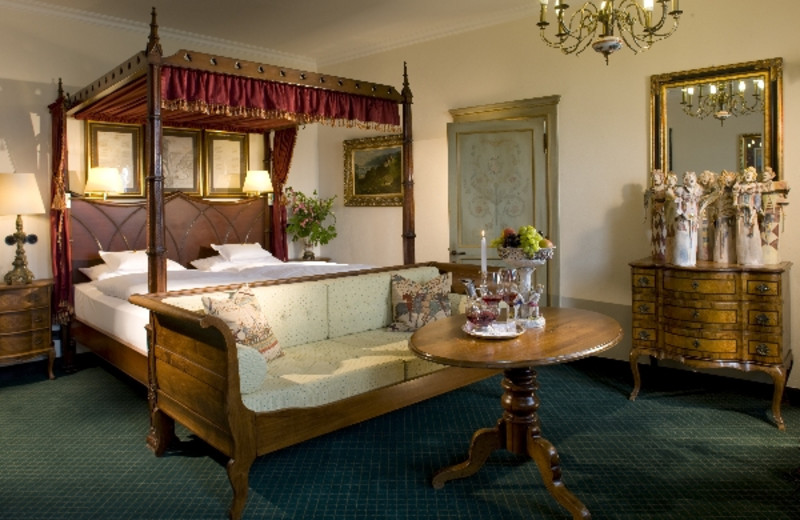 Guest room at Castle Hotel Restaurant Auf Schoenburg.
