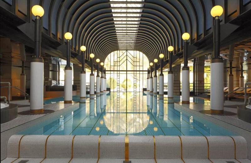 Indoor pool at Victoria-Jungfrau Grand Hotel & Spa.