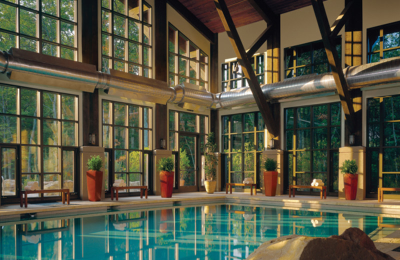 Indoor pool at The Lodge at Woodloch.