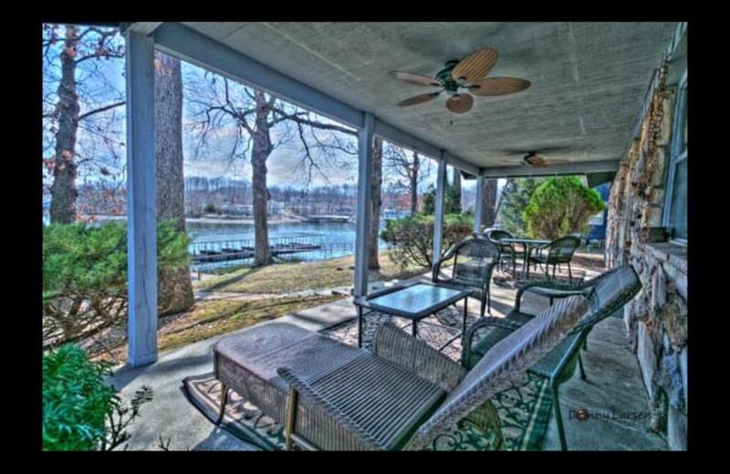 Cottage deck at Mallard Point Resort.