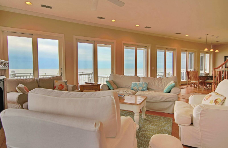 Rental living room at Resort Vacation Properties of St. George Island.