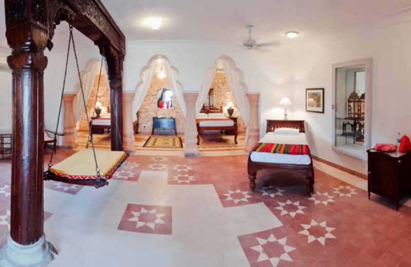 Guest room at Neemrana Fort-Palace.