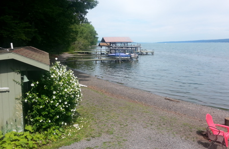 Lake view at Kingtown Beach Cottages.