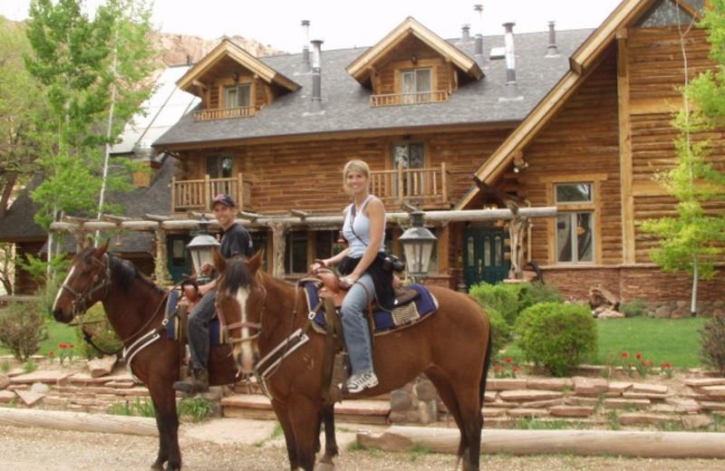 Horseback riding at The Lodge at Red River Ranch.