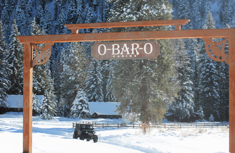 Winter at O-Bar-O Cabins.