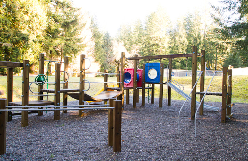 Kid's playground at Luxury Getaways.