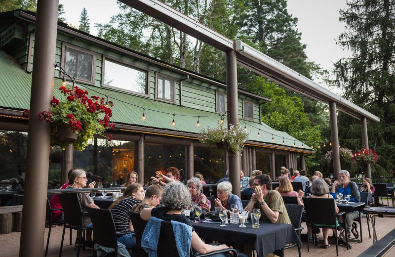 Dining at Morrison's Rogue River Lodge.