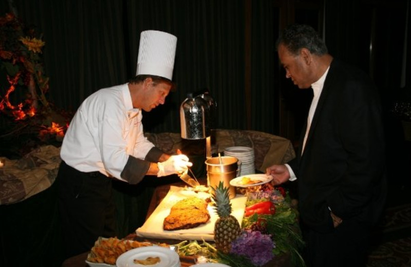 Chef Cooking at  Eagle Ridge Resort