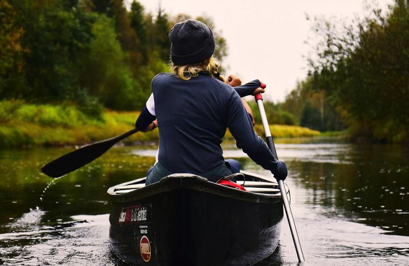 Kayaking at Skyport Lodge.