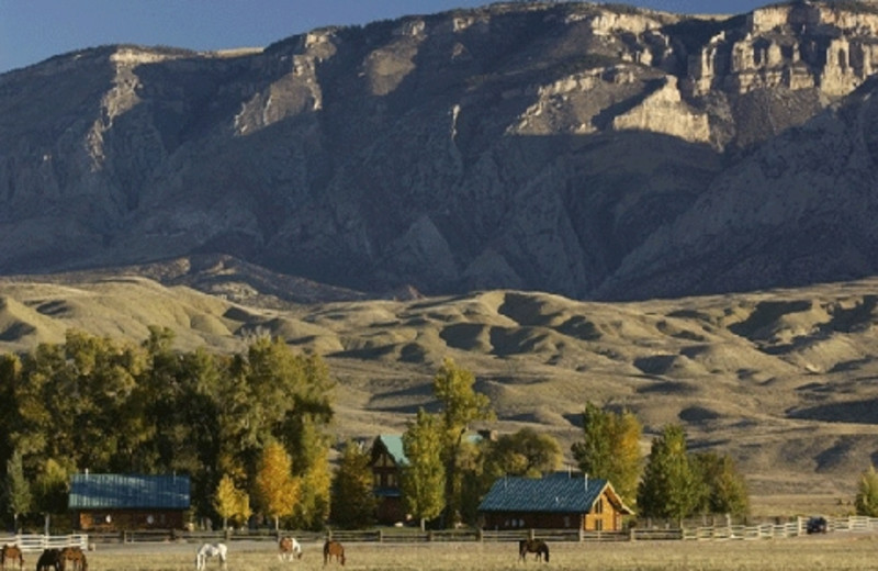 Scenic view of The Hideout Lodge & Guest Ranch.