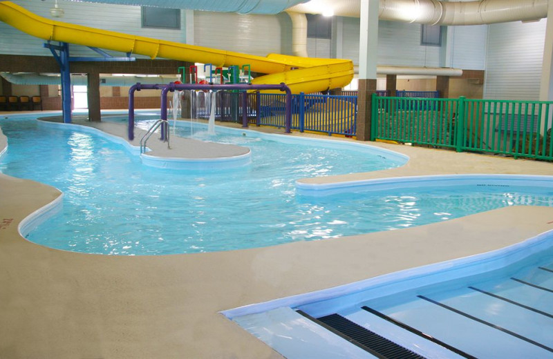 Indoor water park at Castle Rock Resort and Waterpark.
