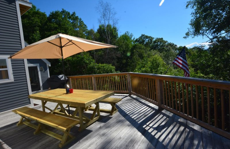 Rental patio at All Mountain Rentals.