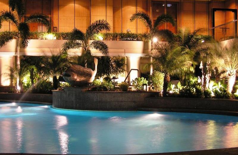 Outdoor pool at Pan Pacific Hotel Manila.