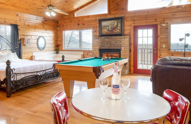 Rental interior at Natural Retreats Great Smoky Mountains.
