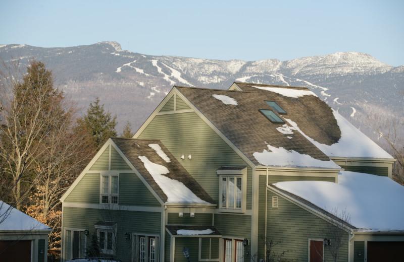 Resort home in winter at Topnotch Resort.