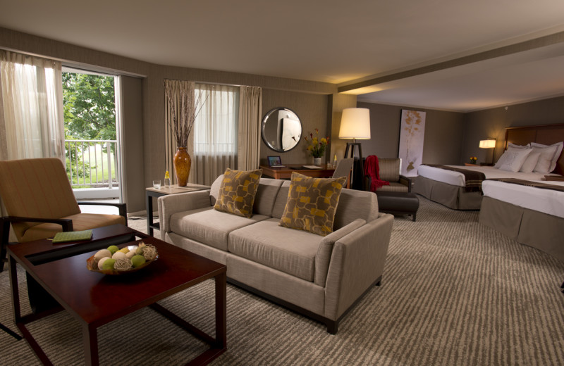 Guest room at Eaglewood Resort & Spa.