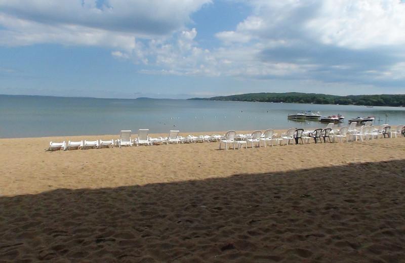 Beach at Bayshore Resort.