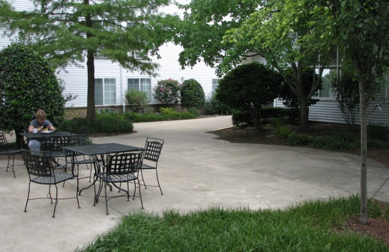 Patio Area at Branson Towers Hotel