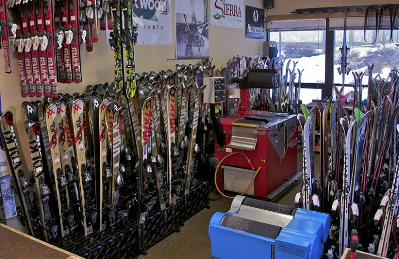 Ski shop at The Ridge Resorts.