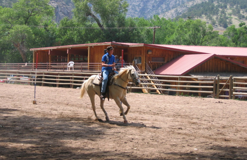Riding at  Sylvan Dale Guest Ranch.