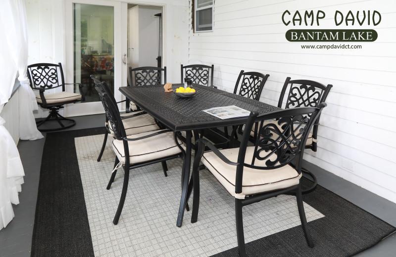 Cottage dining room at Camp David Bantam Lake.