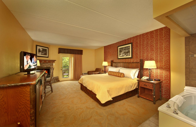 Guest room at Old Creek Lodge.