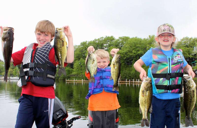 Fishing at Cragun's Resort and Hotel on Gull Lake.