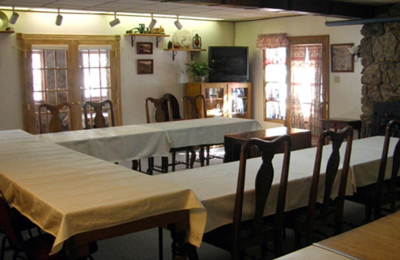 Meeting room at Boulder Mountain Lodge.